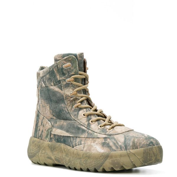 0fa71ba9798e3 Yeezy Season 5 military boots ($742) ❤ liked on Polyvore featuring men's  fashion,