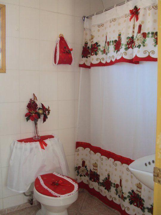 Resultado de imagen para cortinas navideñas manualidades
