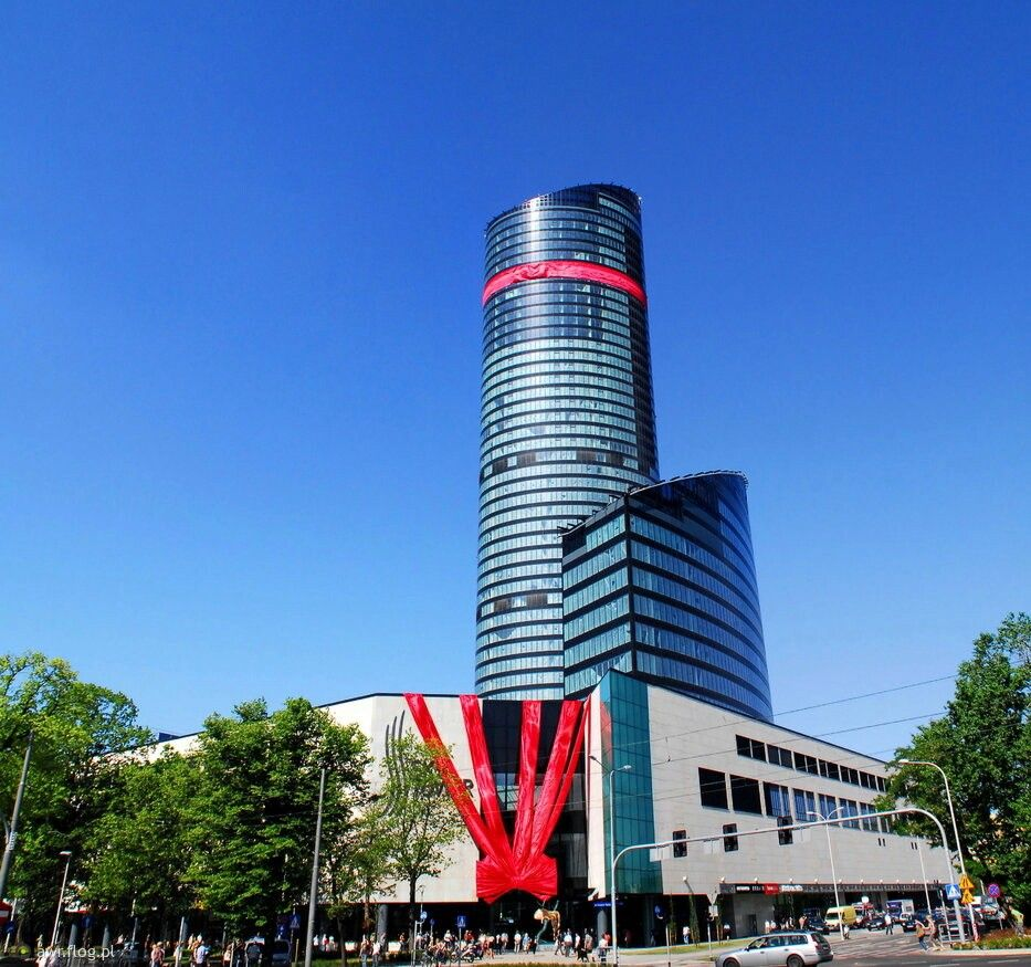 Poland Polen Polska Wroclaw Sky Tower Wroclaw Poland Glassware