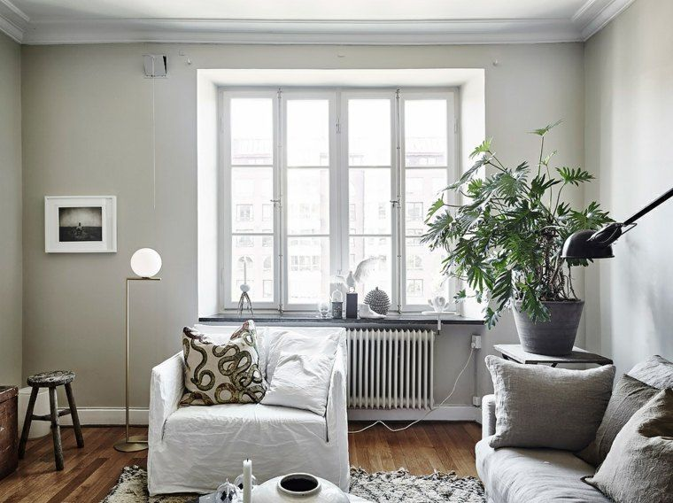 Skandinavisches Wohnzimmer der Idee, gemütlich und hell Inside - wohnzimmer modern gemutlich