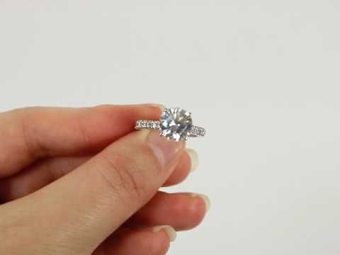 dq size cz b solitaire diamond s pretty diamonique qvc ring simulant engagement sterling very bn rings silver