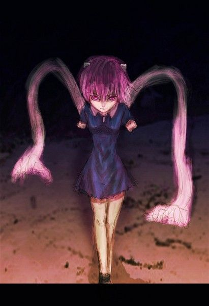 Tags: Anime, Evil, Elfen Lied, Hands, Blue Dress, Nana ...