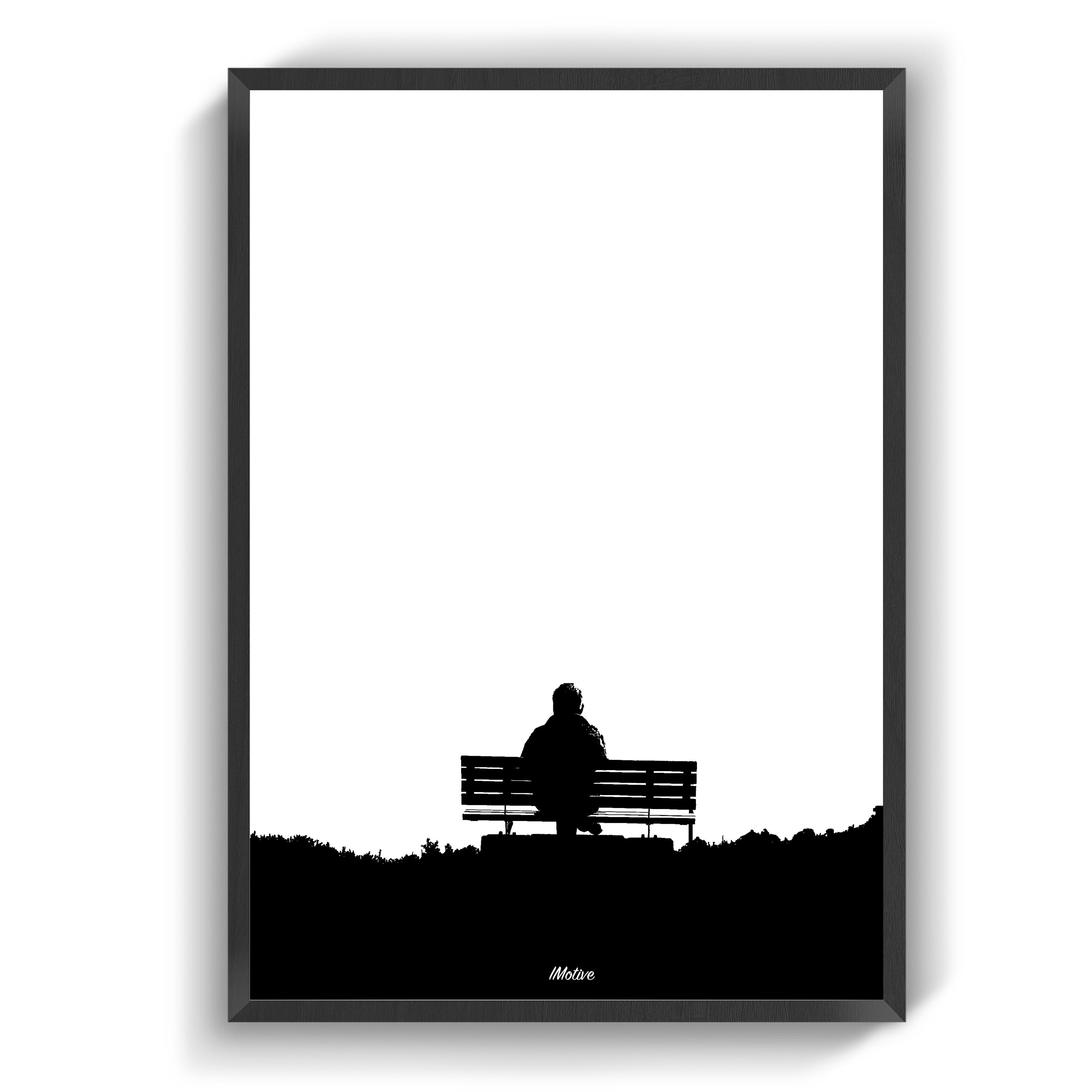 Den Enlige Baenk Fotokunst Plakater Farver