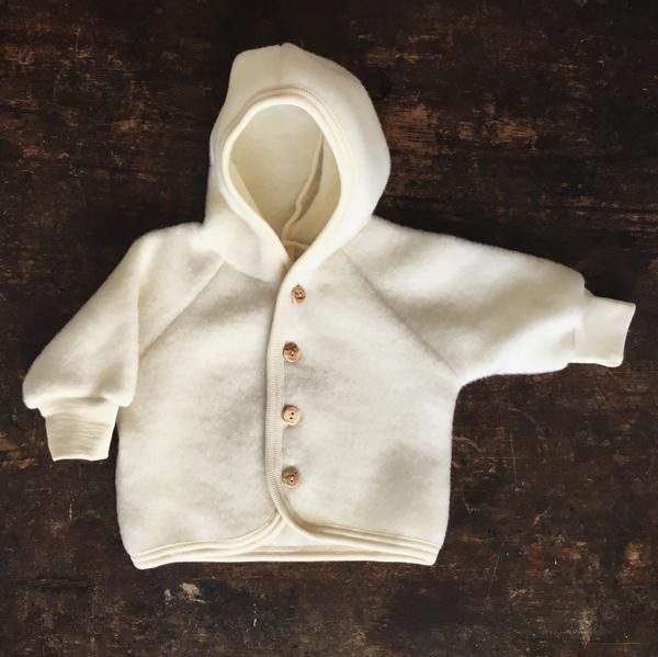 100 Organic Merino Wool Fleece Jacket Natural 0 24m Baby Outerwear Fleece Jacket Baby Jacket