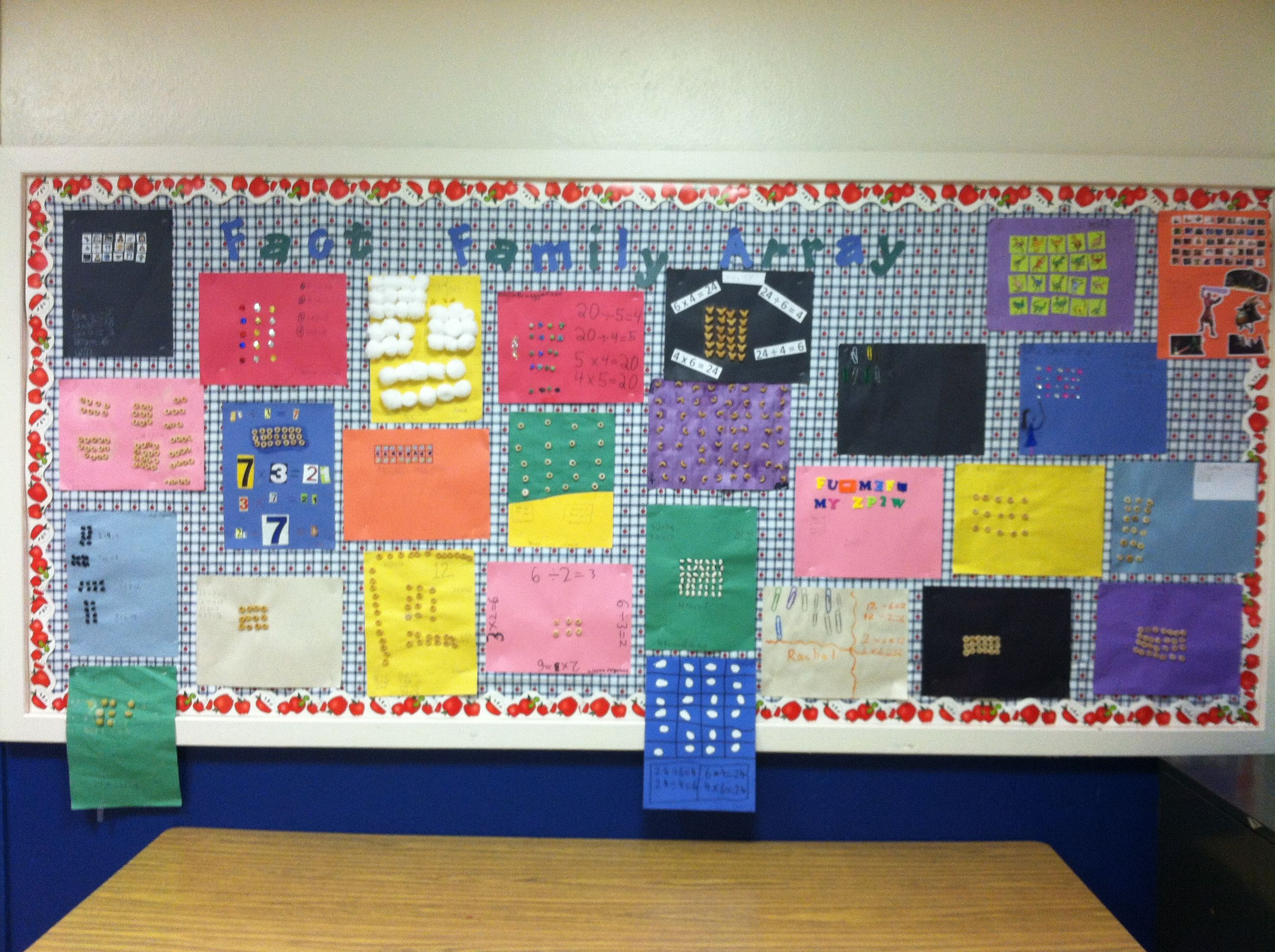Homemade Arrays For Multiplication And Division