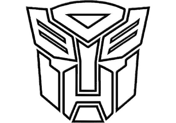 Sewing And Stenciling For Boys Transformers Coloring Pages Transformer Logo Autobot Symbol