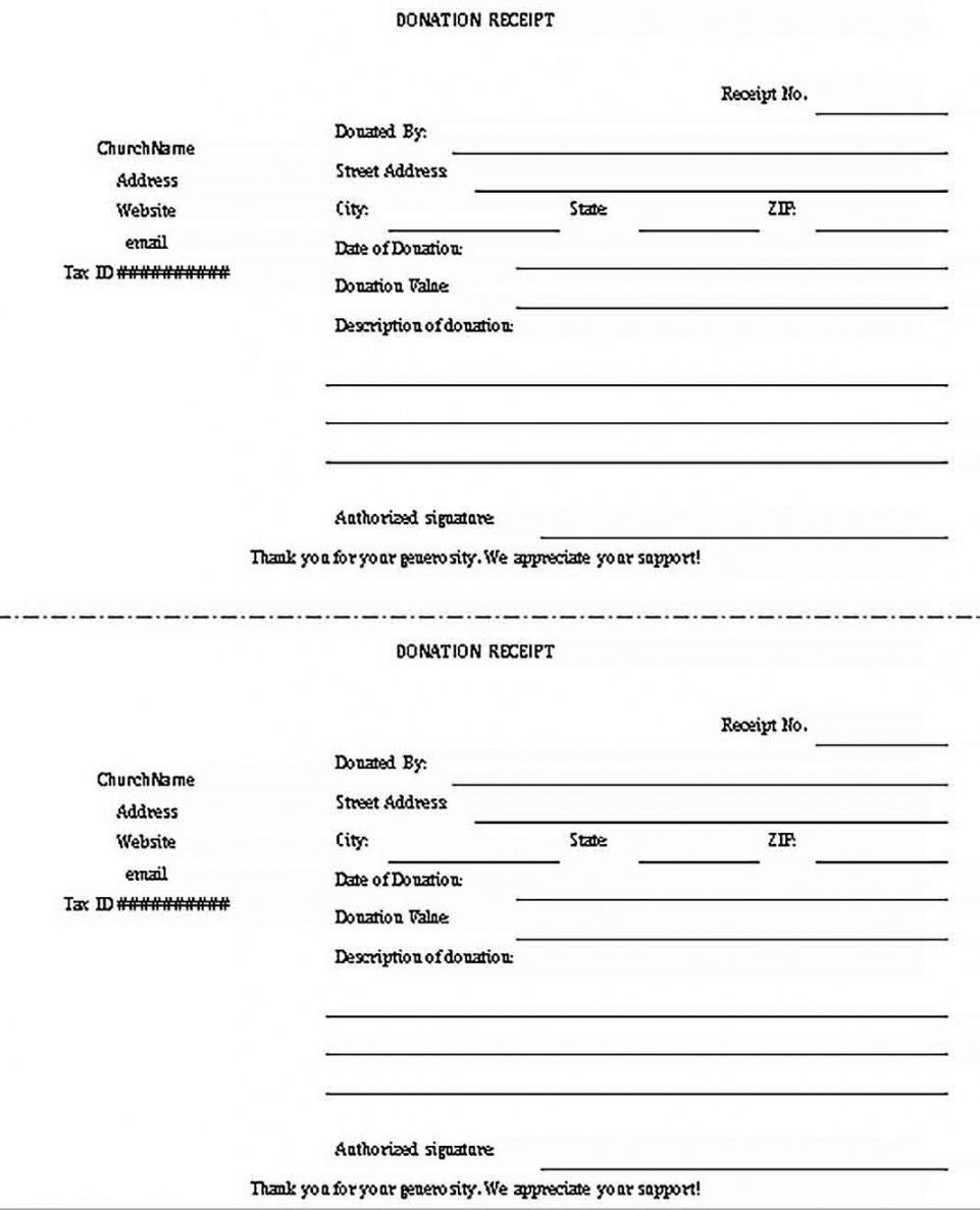Explore Our Example Of Gift In Kind Receipt Template Receipt Template Donation Form Non Profit Donations