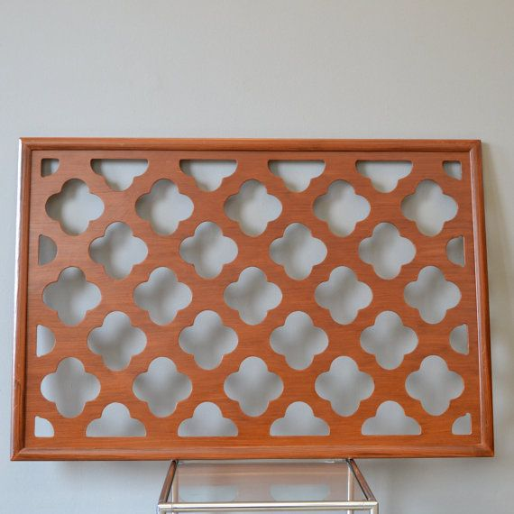 Moroccan Trellis Wooden Wall Hanging
