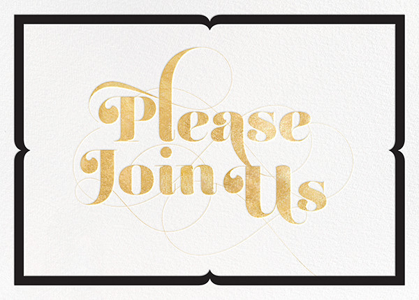 Please Join Us Gold Online At Paperless Post Online Engagement Party Invitations Engagement Party Invitations Engagement Invitation Cards