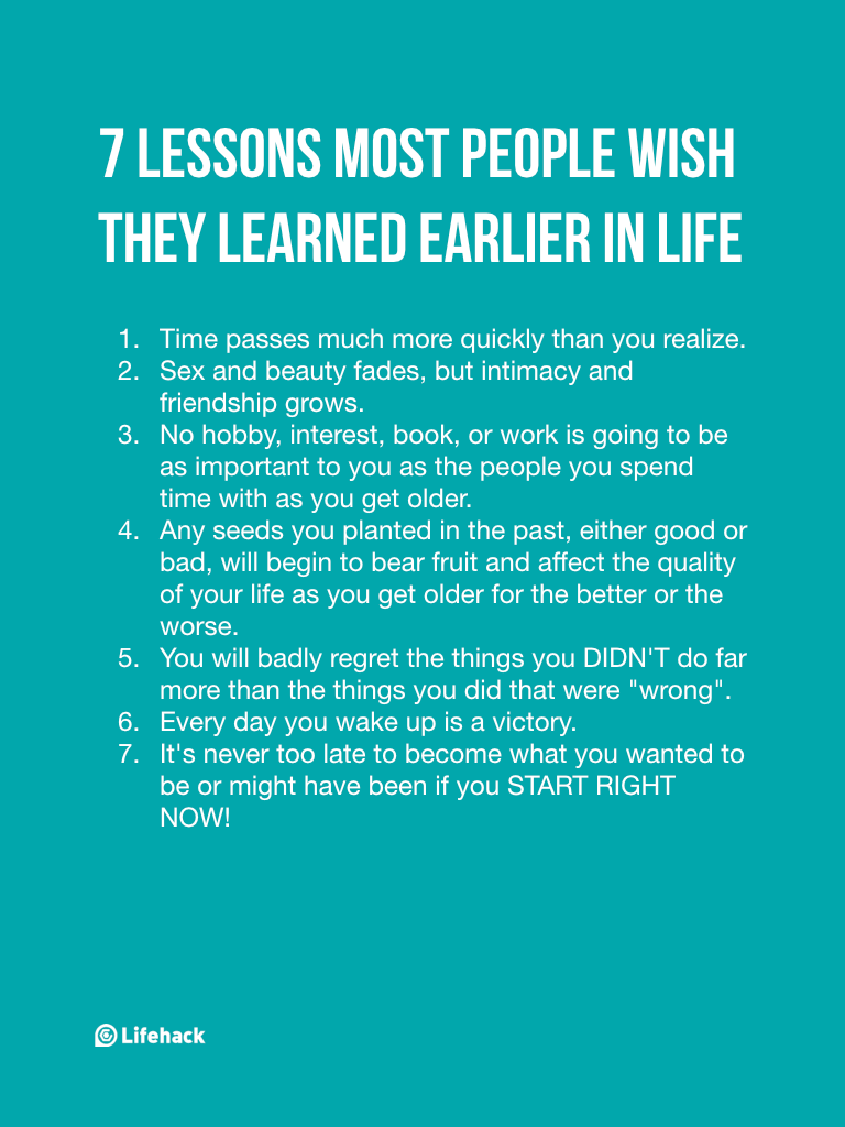 Late Quotes Most People Learned These 7 Lessons Too Late In Life  Learning