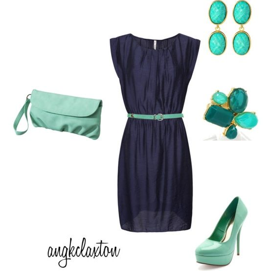 Love that dress and the colors, but its too much all together.