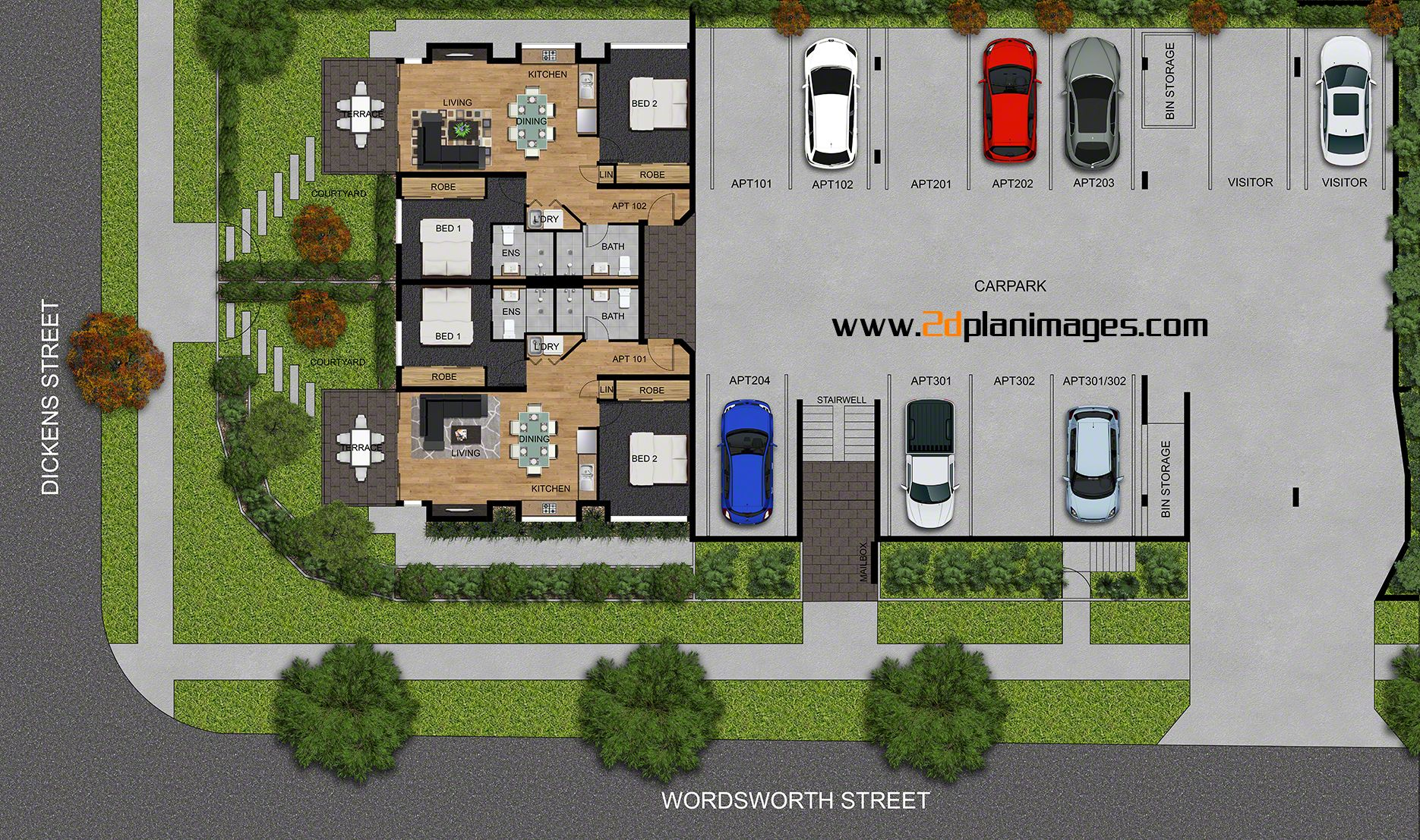 4th level 2d colour floor plan for a 4 level multi unit 4th level 2d colour floor plan for a 4 level multi unit development mt gravatt brisbane qld layout pinterest 2d architectural floor plans and