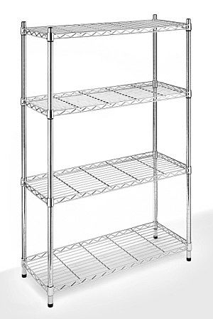 Supreme 4 Tier Chrome Steel Shelving Whitmor Shelving Unit Steel Shelving Unit