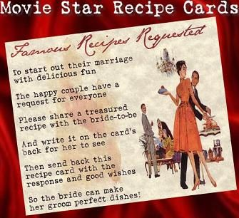A Great Idea For The Hopeless Chef Famous Recipe Request Cards To Be Included In Invitations So Your Guests Can Help Improve Cooking Repertoire