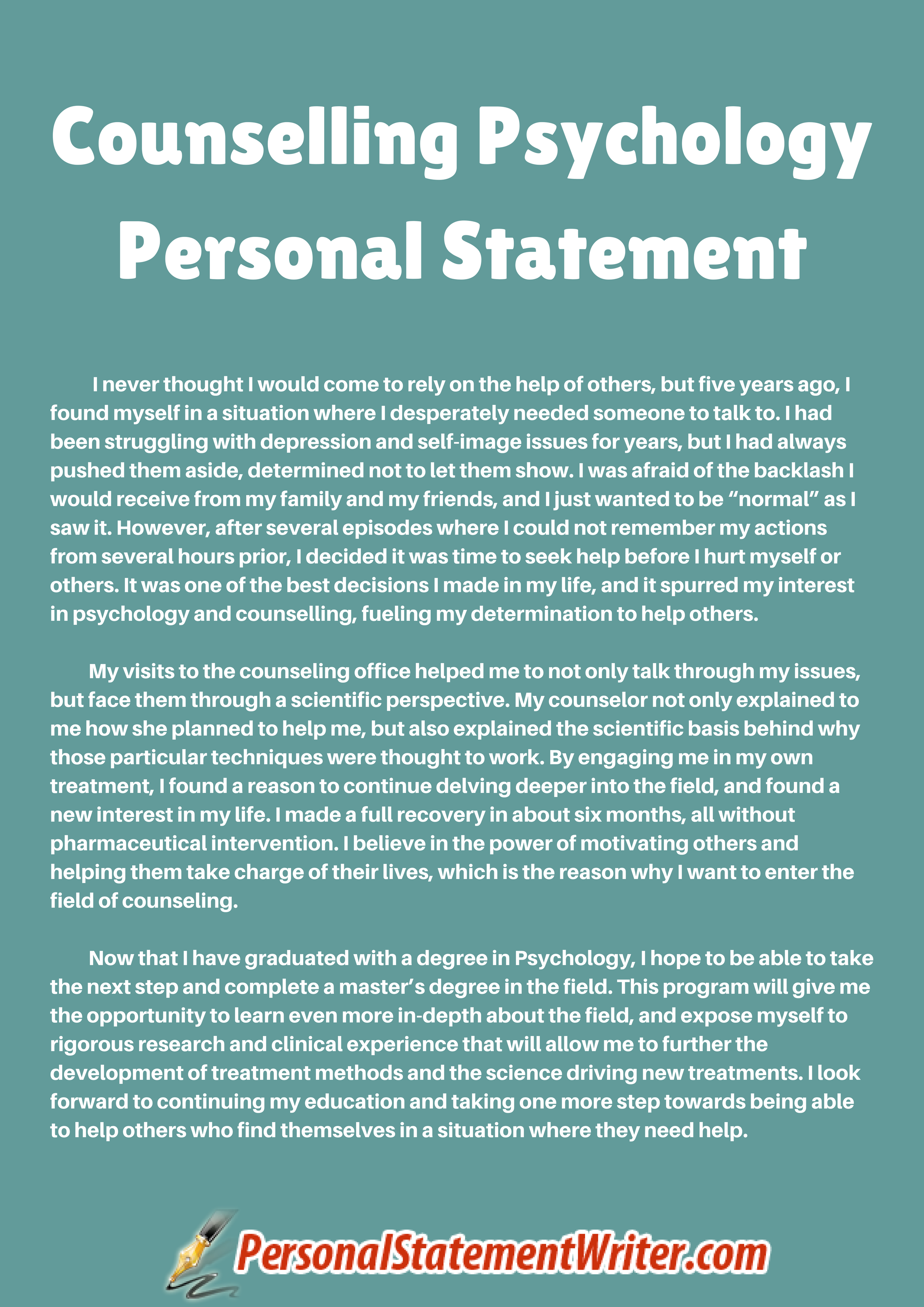 Psychologystudent Personal Statement Grad School Example Youtube