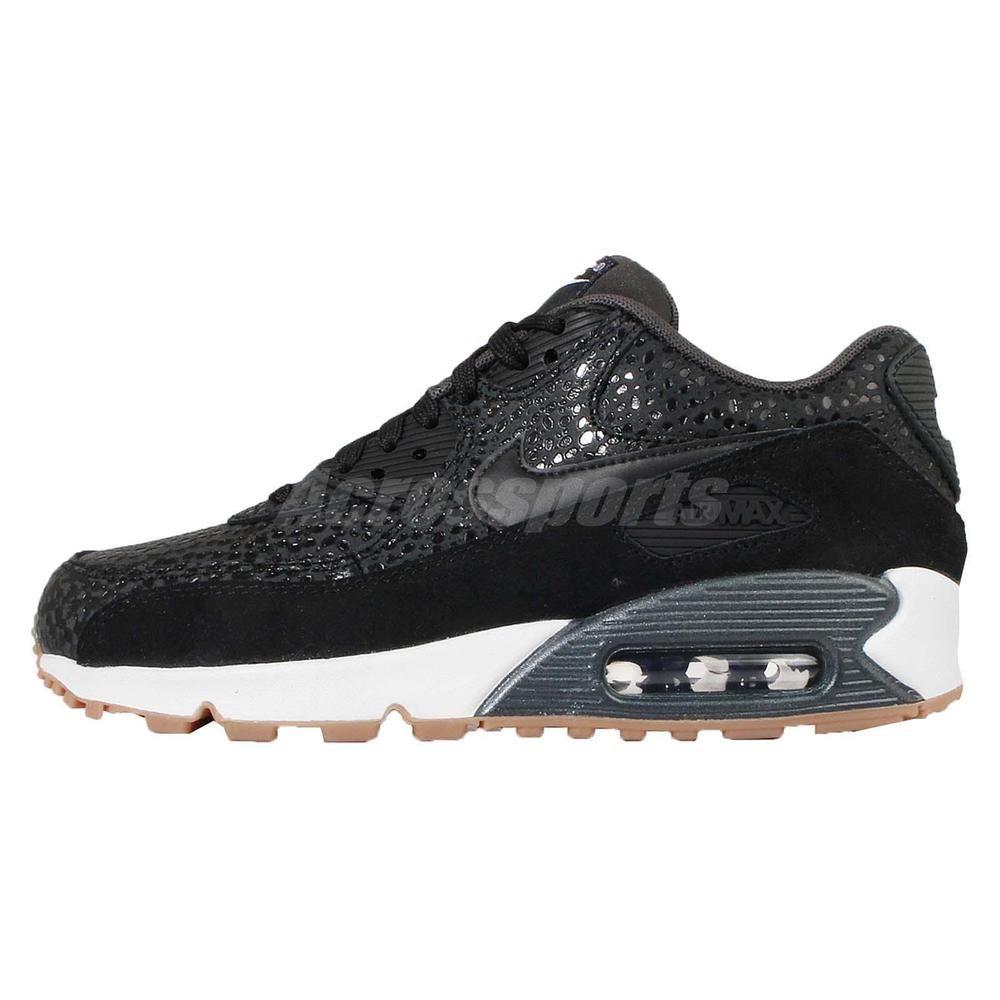 Wmns Nike Air Max 90 PREM Safari Premium Black White Women Shoes 443817-006