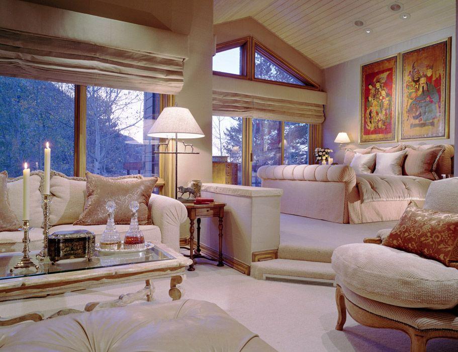 Interior Design Colorado Retreat Aspen CO Master Suite Donna
