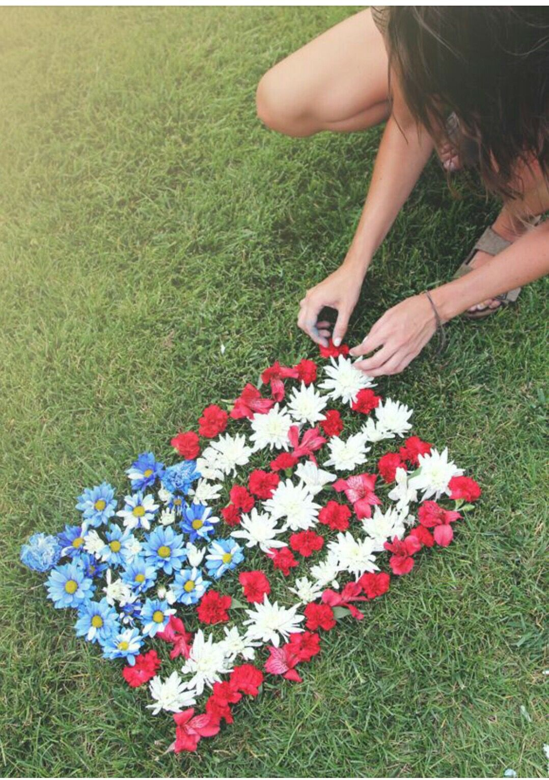 Usa American Flag Made With Flowers 4th Of July Happy 4 Of July Summer Of Love