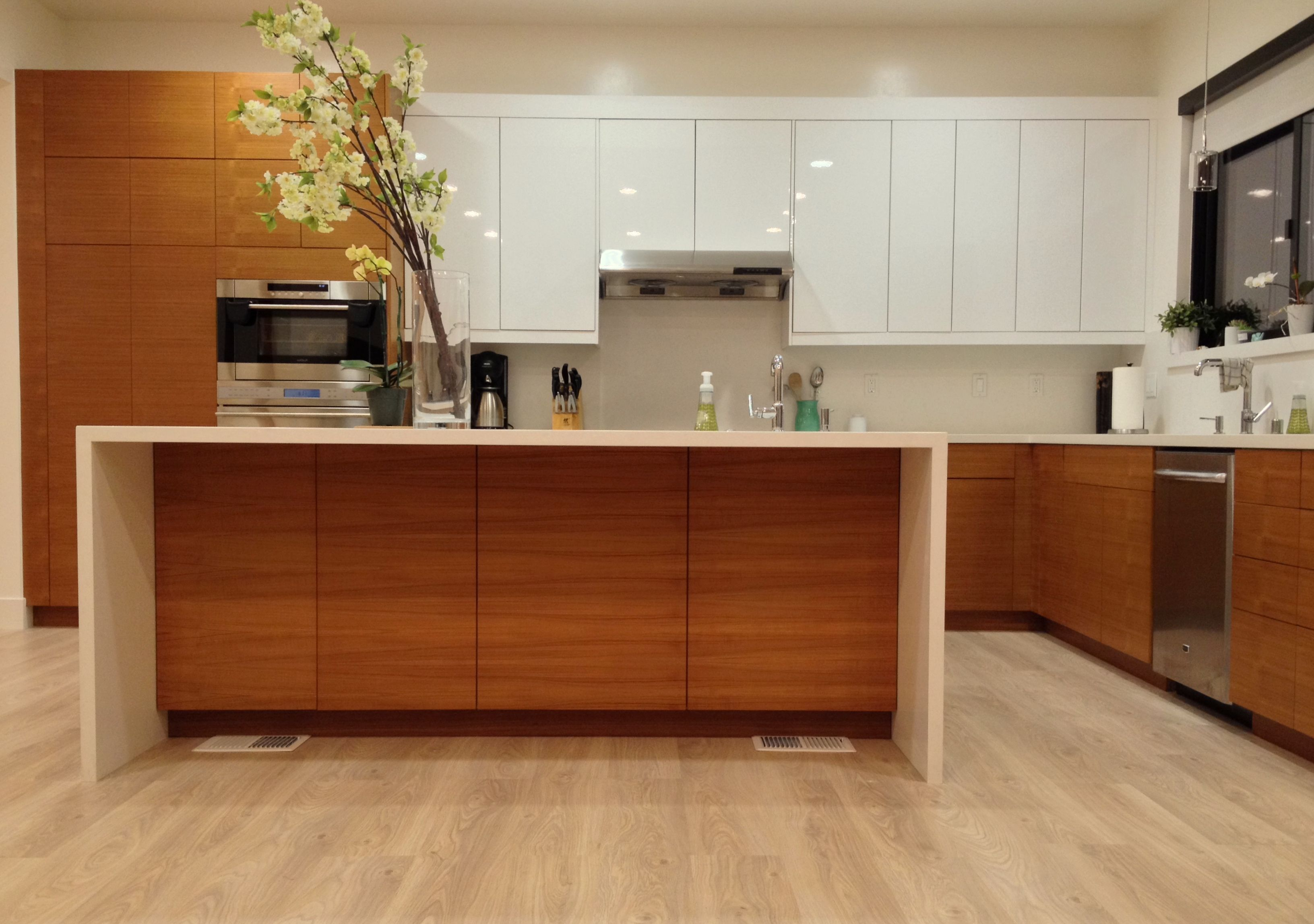 Ikea Kitchen With Semihandmade Rift Teak Fronts Contemporary Kitchen Kitchen Design Eichler Kitchen