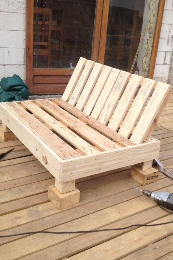 Loungemöbel holz bauanleitung  Paletten holz-sofa selber bauen | Palettes | Pinterest ...