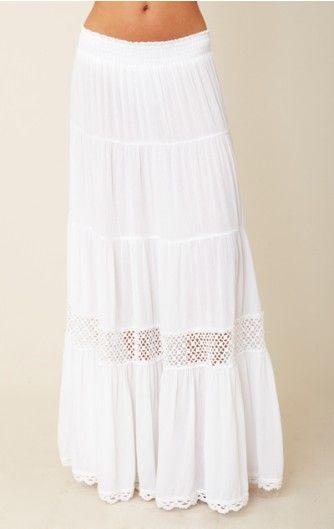 Long White Skirts