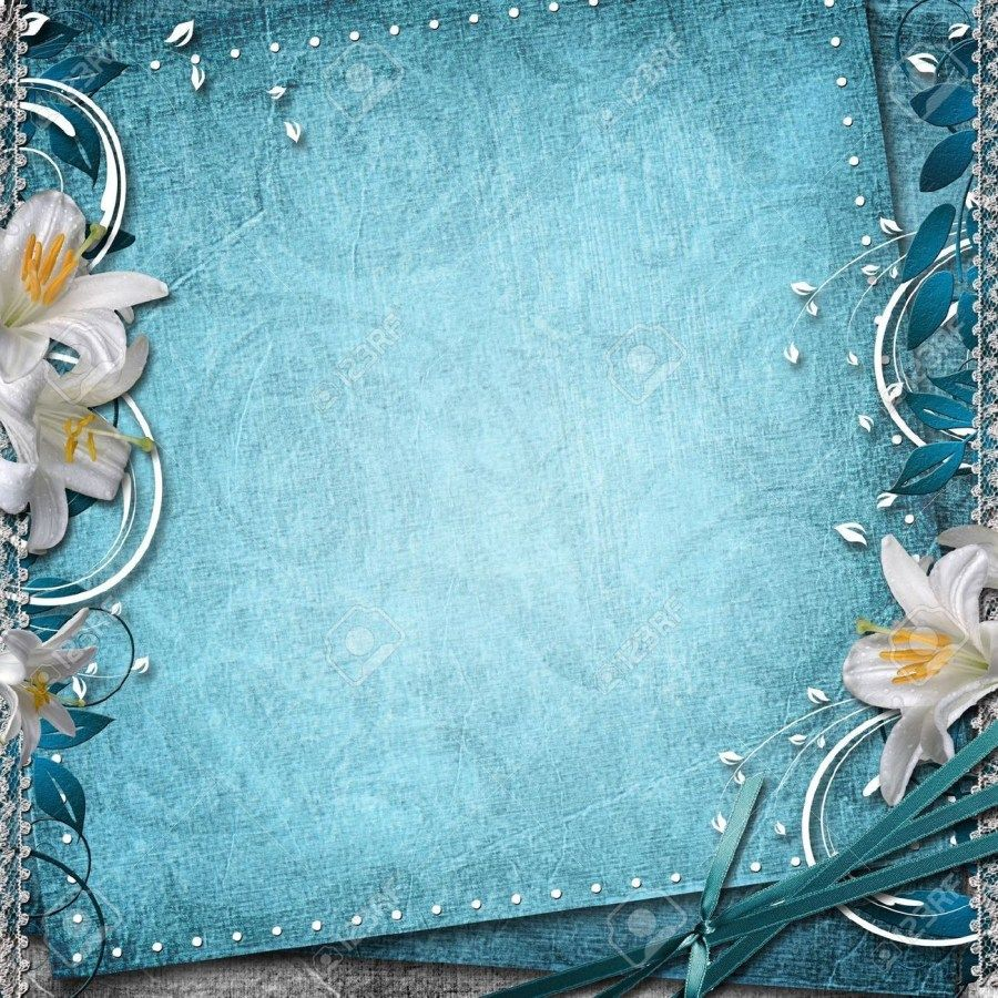 4+ Excellent Image of Wedding Invitation Background Blue