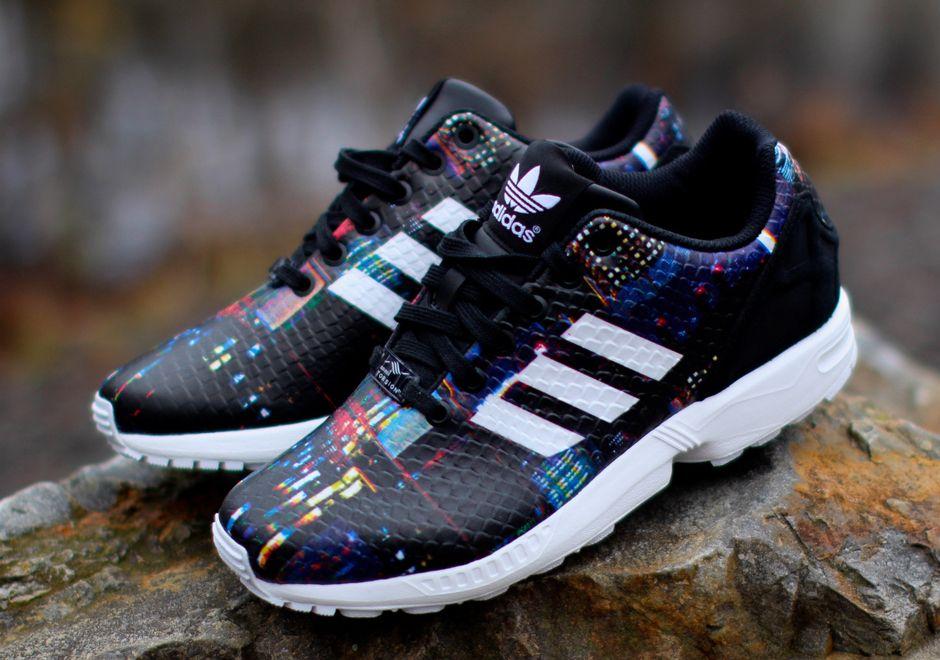 Adidas zx flux floral rainbow cheap >off70% più grande catalogo