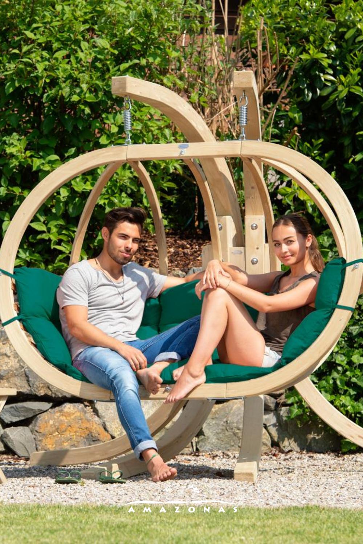Loungesessel Fur Zwei Personen Hangestuhl Loungemobel Aus Holz Fur Den Garten Und Gartenlounge Garten Lounge Hangesessel Lounge Mobel