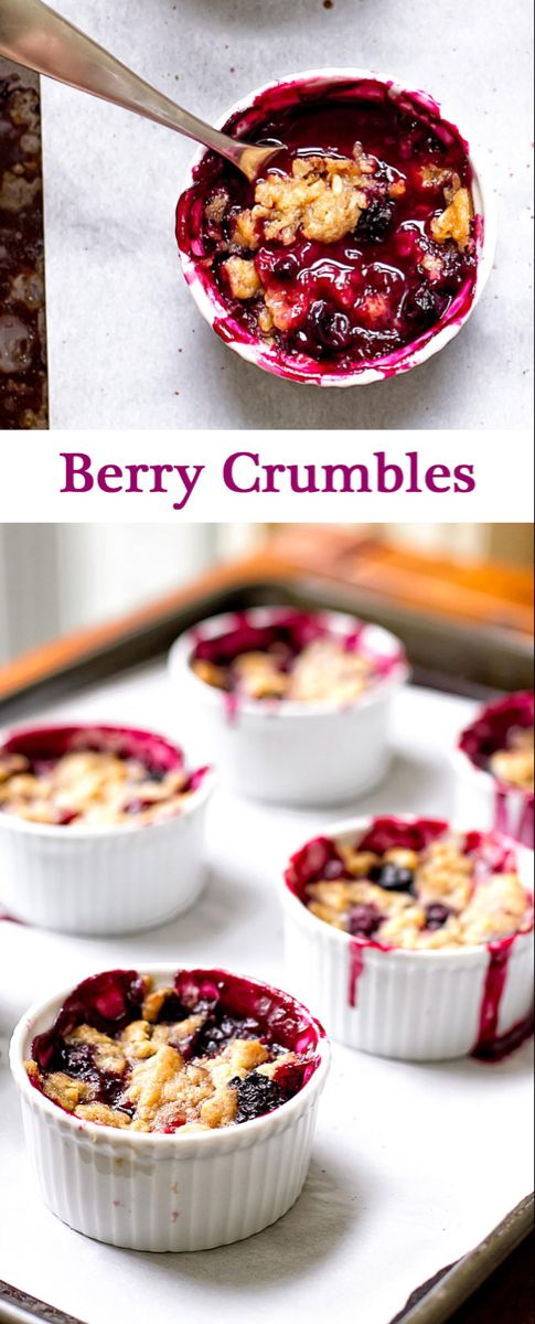 Berry Crumbles | Girl Gone Gourmet