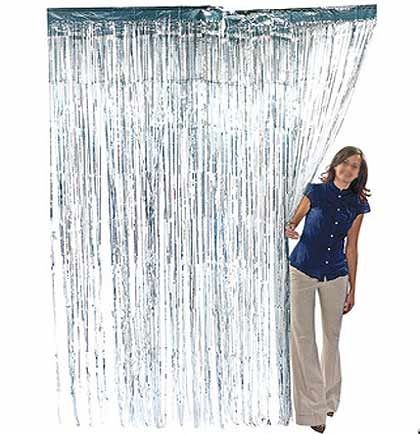 Silver Fringe Curtain Sweet 16 Party Decorations Supplies Silver Curtains Curtain Fringe