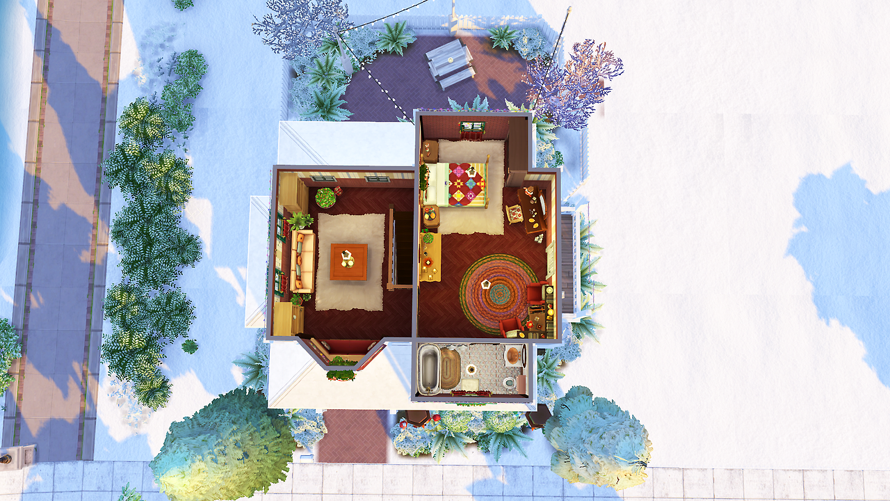 "avelinesims: "" Christmas House Just a little Christmassy house for ..."