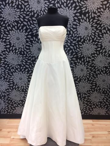 corset style wedding gown on sale at the bridal cottage