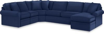 Collins Sectional Furniture Blue Couch Room Sectional