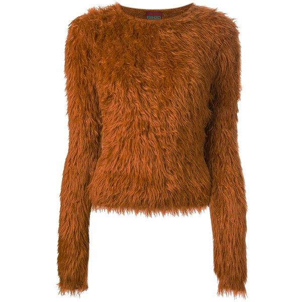 Kenzo Vintage Furry Knit Sweater ( 686) ❤ liked on Polyvore featuring tops 946a8f25666