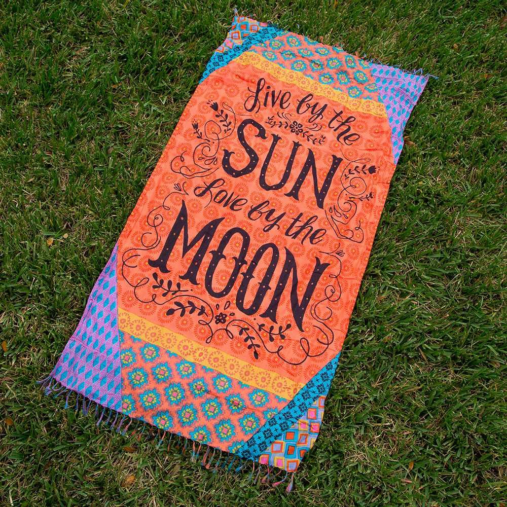 Beach Towels With Live By The Sun Love Moon Have More Fun In These Cute Towel Blankets Use It As A Or Blanket