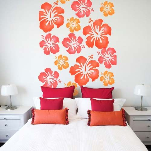bedroom wall stencil ideas wall stencil design ideas for bedroom dream fun house - Designs For Walls