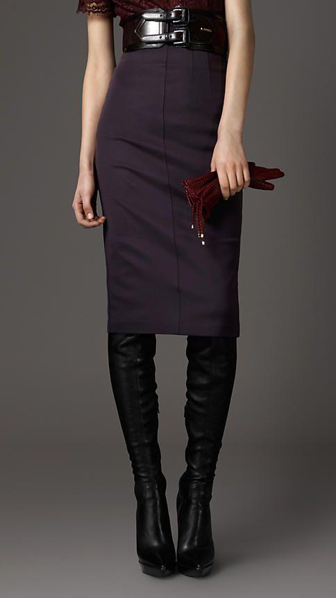 Burberry- Purple Pencil Skirt