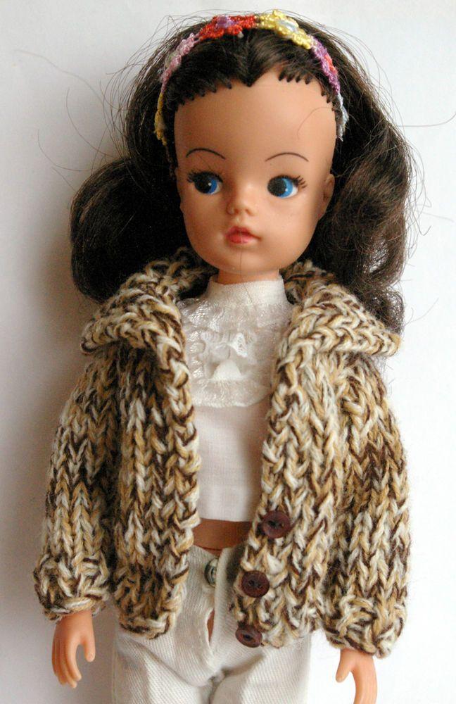 Tweedy Mixed Sindy DOLLS cardigan fit dolls Tammy Tressy Barbie Petra Tilda