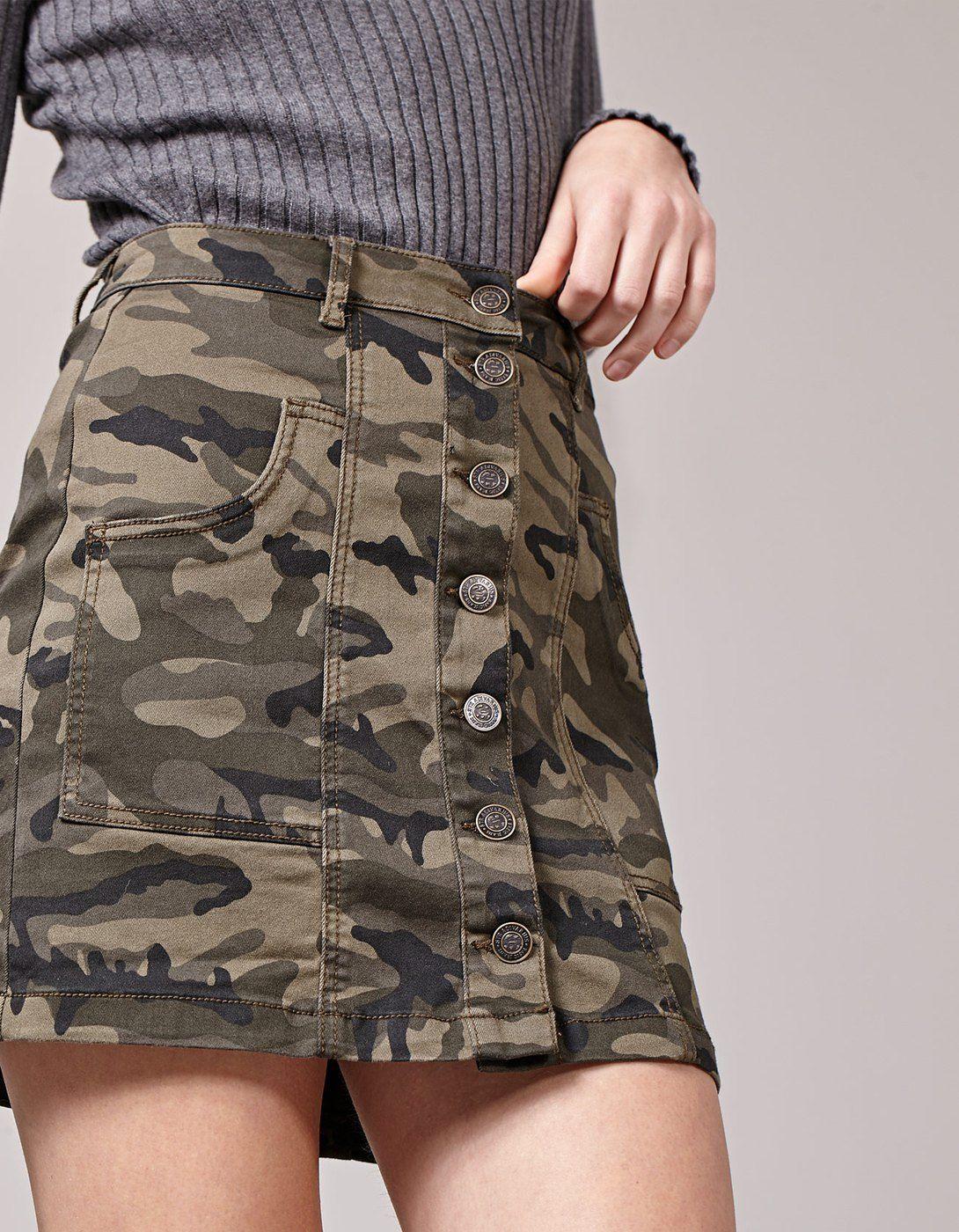 6ac831094 Falda camuflaje | faldas en 2019 | Falda de camuflaje, Ropa ...