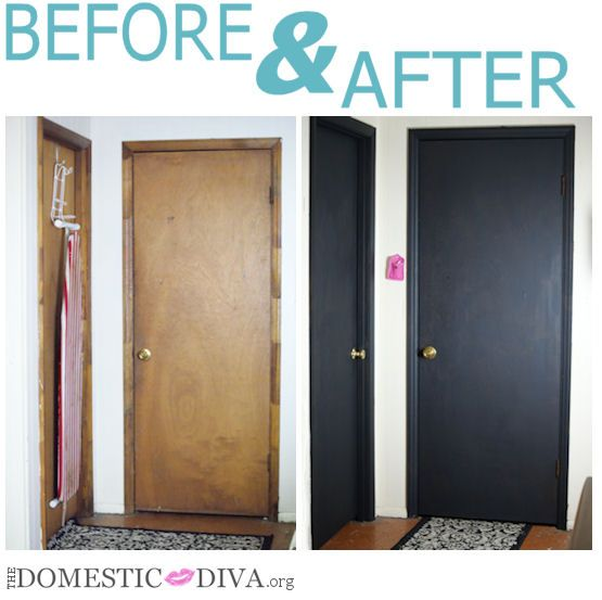 The domestic diva paint an interior door with chalkboard for Painted interior door designs