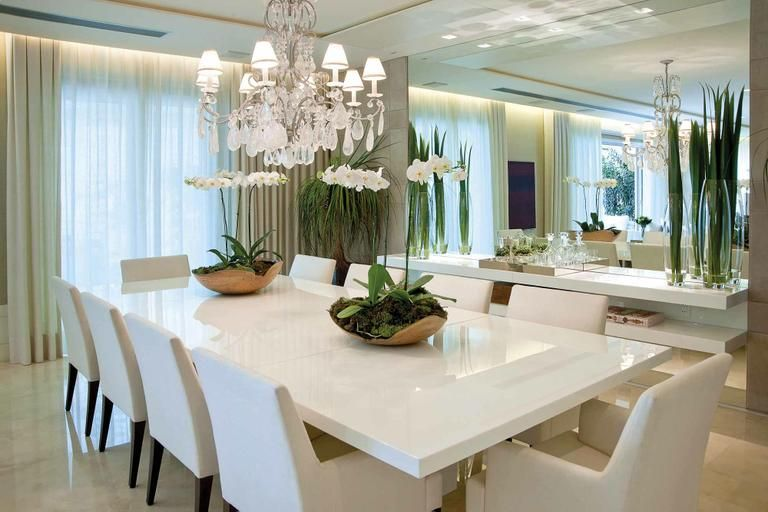 Sala De Jantar Resina Branca ~  montam o cenário ideal para um show de móveis assinados obras de