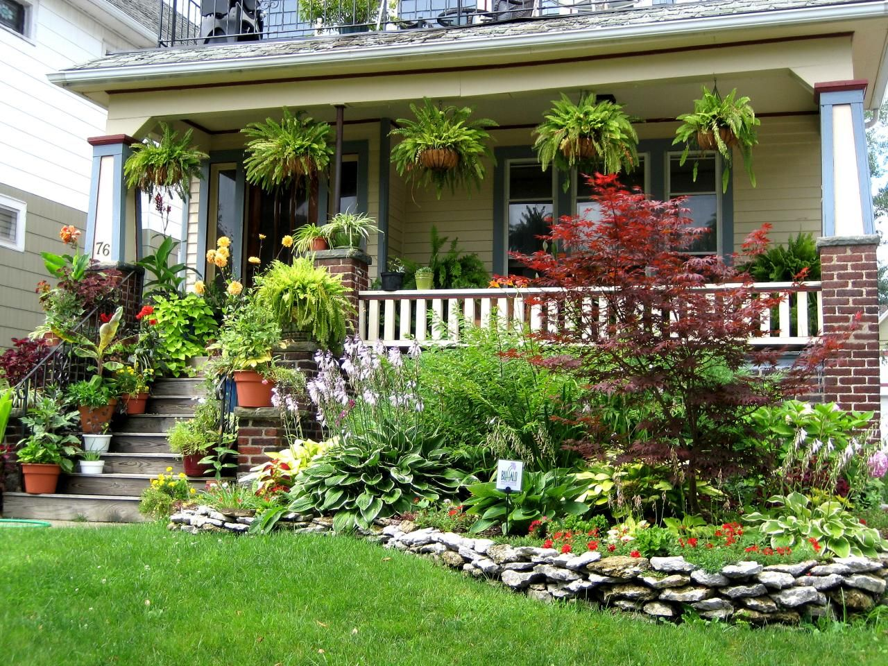Gardens We Love From Rate My Space Porch Landscaping Front Porch Garden Front Porch Landscape Landscaping ideas for house with front porch