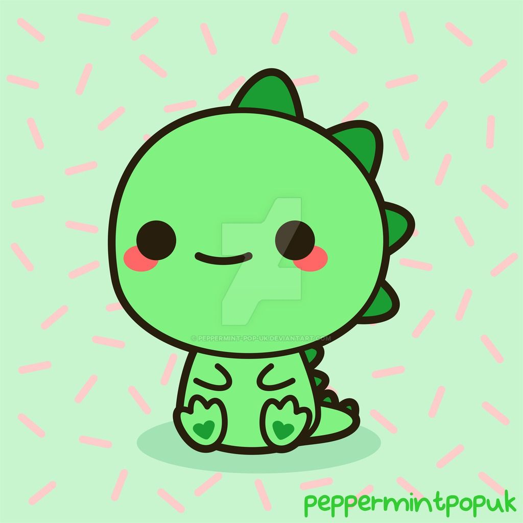 Kawaii dinosaur by peppermint pop uk on deviantart for Cama kawaii