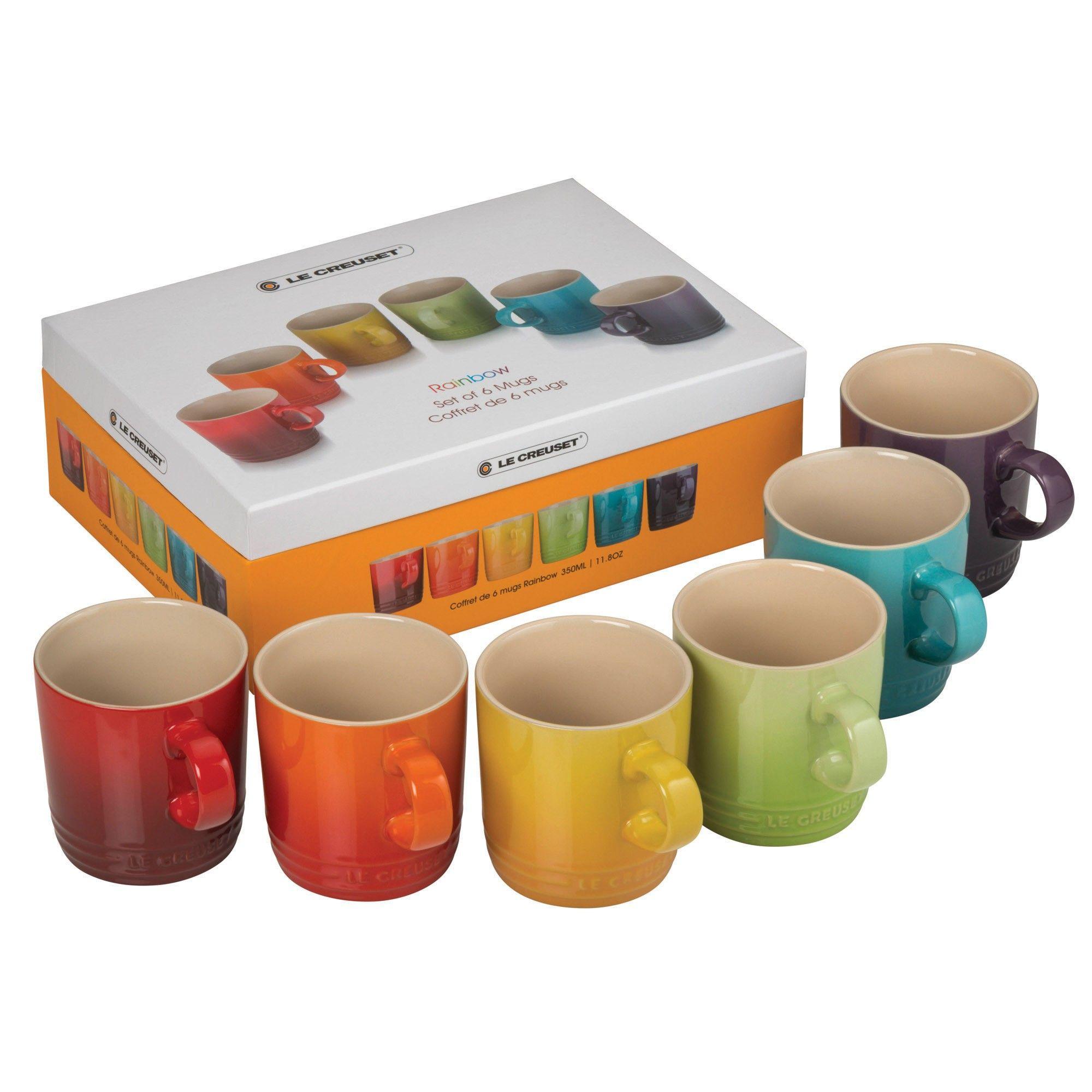 Stoneware Rainbow Mugs Set of 6 | Mugs and cups | Pinterest