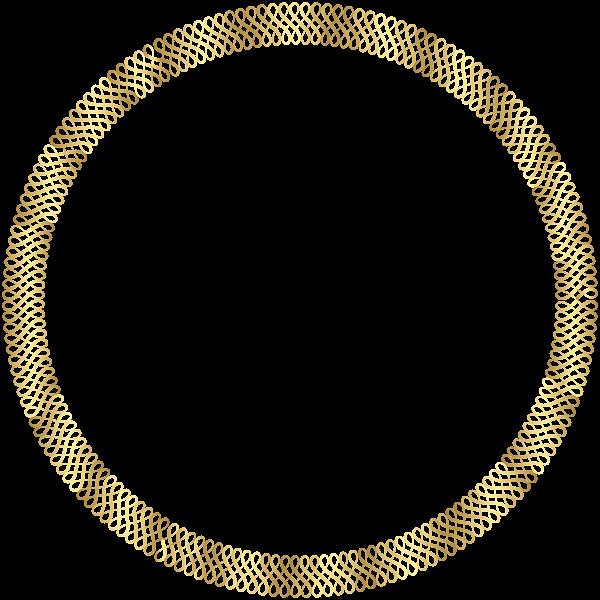 Gold Round Border Png Clip Art Image Frame Border Design Clip Art Free Clip Art