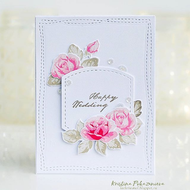 And My Another Card For The Altenewchallenge With Altenewvintageroses Stamp Set From Altenewllc And Studiokatiainc Creat Simple Cards Flower Cards Cards
