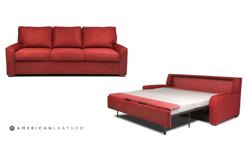 Al Comfort Sleeper Brynlee Features Architectural Track Arms And Boxed Cush American Leather Sleeper Sofa American Leather Comfort Sleeper Leather Sofa Bed