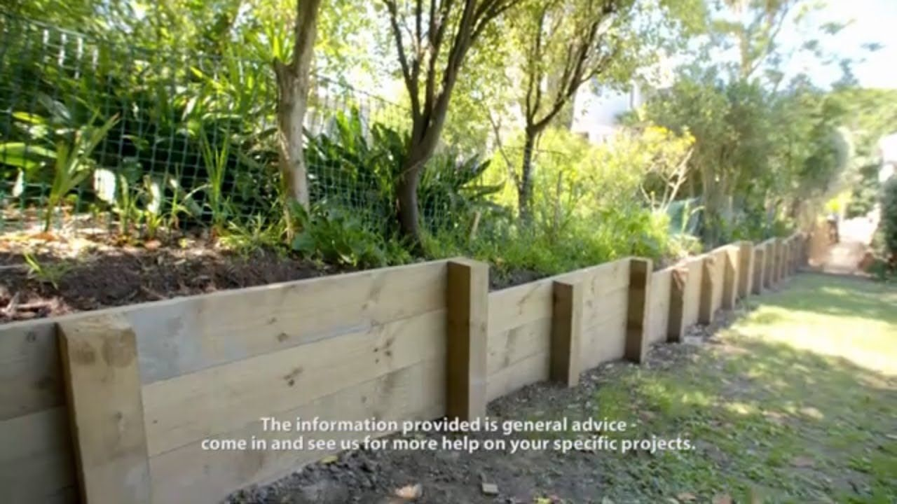 How To Build A Retaining Wall Mitre 10 Easy As With Images