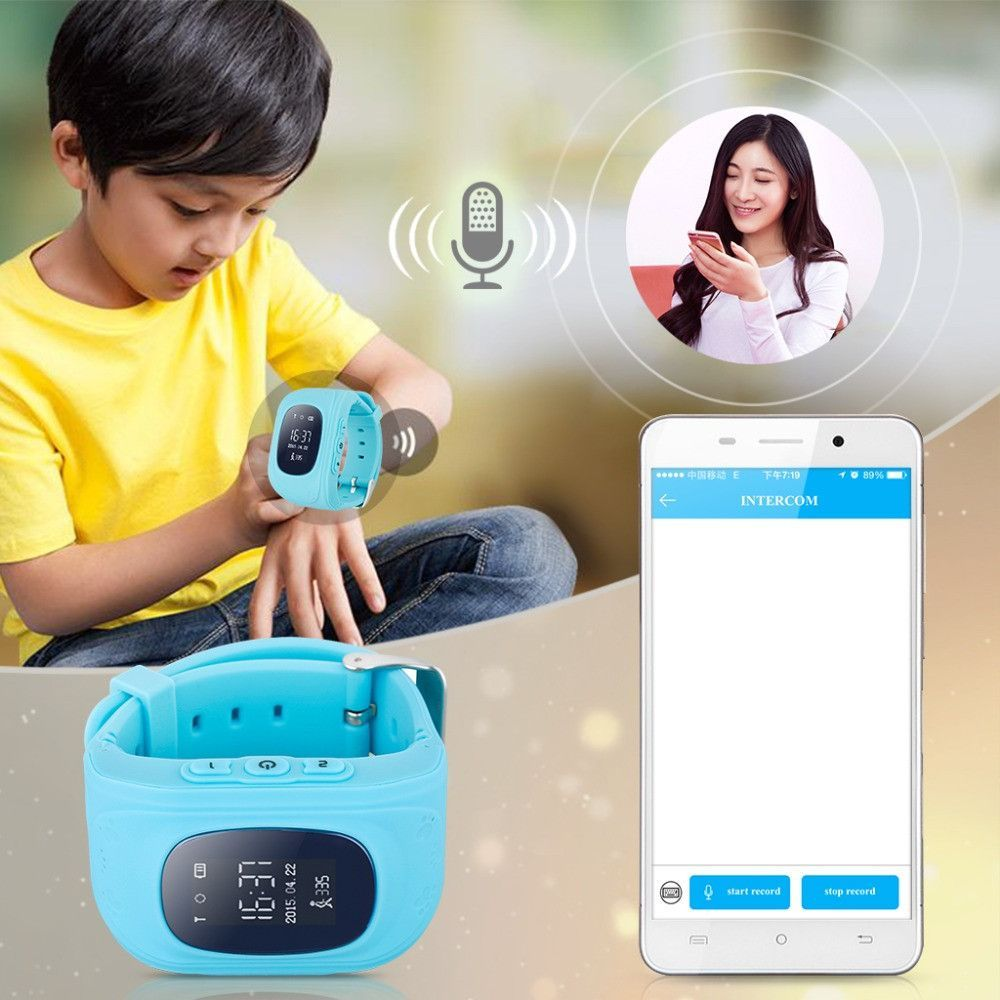 Gps Kid Safe Smart Locator Tracker Baby Wristwatch In 2019