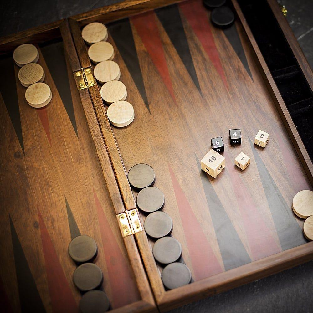 Libra Burnham Backgammon Set in Sheesham Wood Backgammon